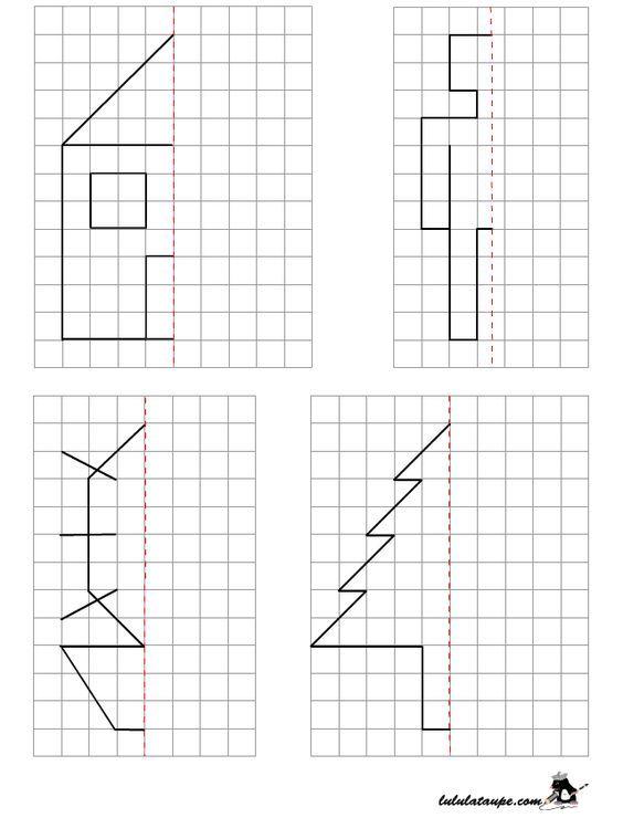 reproduire un dessin par sym trie axiale sur quadrillage cole pinterest quadrillage. Black Bedroom Furniture Sets. Home Design Ideas