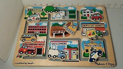 Check out the Store Sale Melissa & Doug Wooden Vehicles Maze Puzzle Ages 3+ Used Childrens Toy
