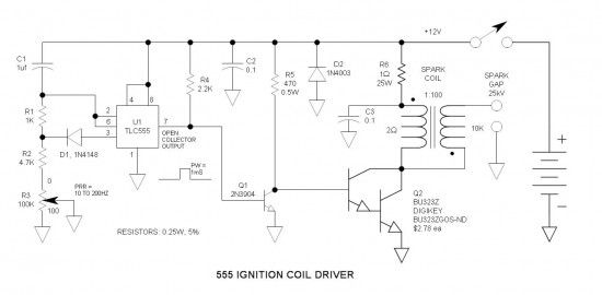 555 Ignition Coil Driver Schematic | Tech Wise | Pinterest