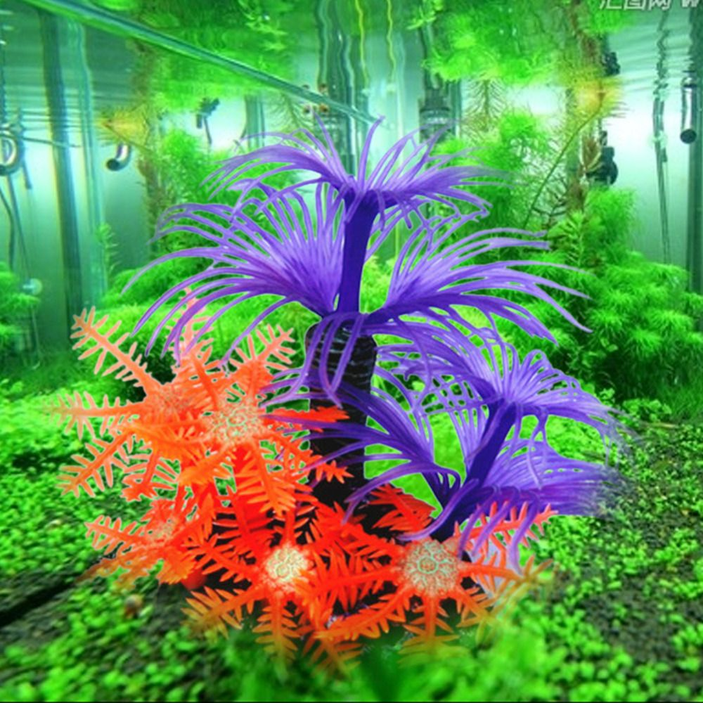 Colorful Plastic Fish Tank Artificial Plants Coral Ornament Aquatic ...