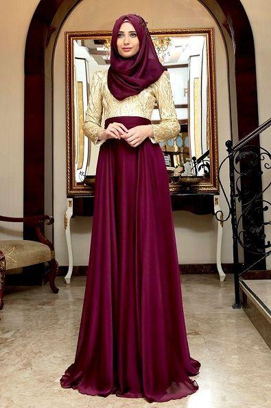 Model Gamis Muslim Untuk Pesta Modern Terbaru