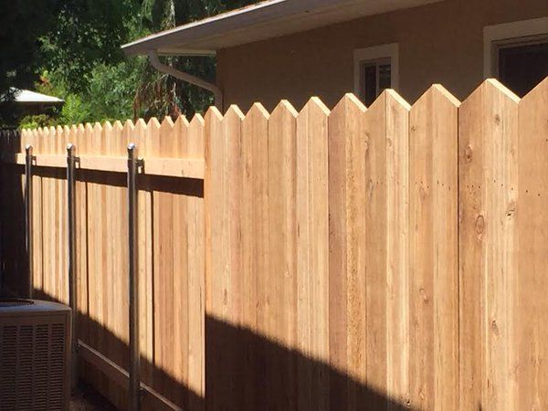 Scalloped Cedar Wood Fence Unique Style by Frontier Fence Company