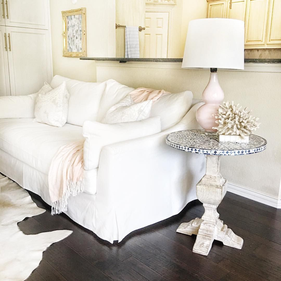 Bone Inlay. White Living Room. Farlov Sofa. Ikea Slipcovered Sofa. White  Furniture
