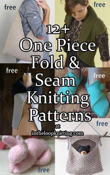 One Piece Fold And Seam Knitting Patterns Knit Patterns Patterns