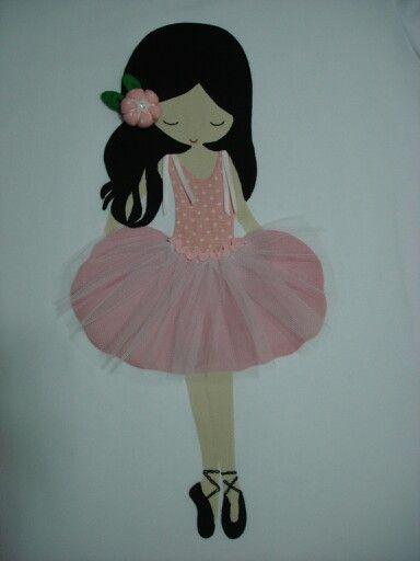 Aplicación bailarina en camiseta | Applique | Pinterest | Ballerina ...