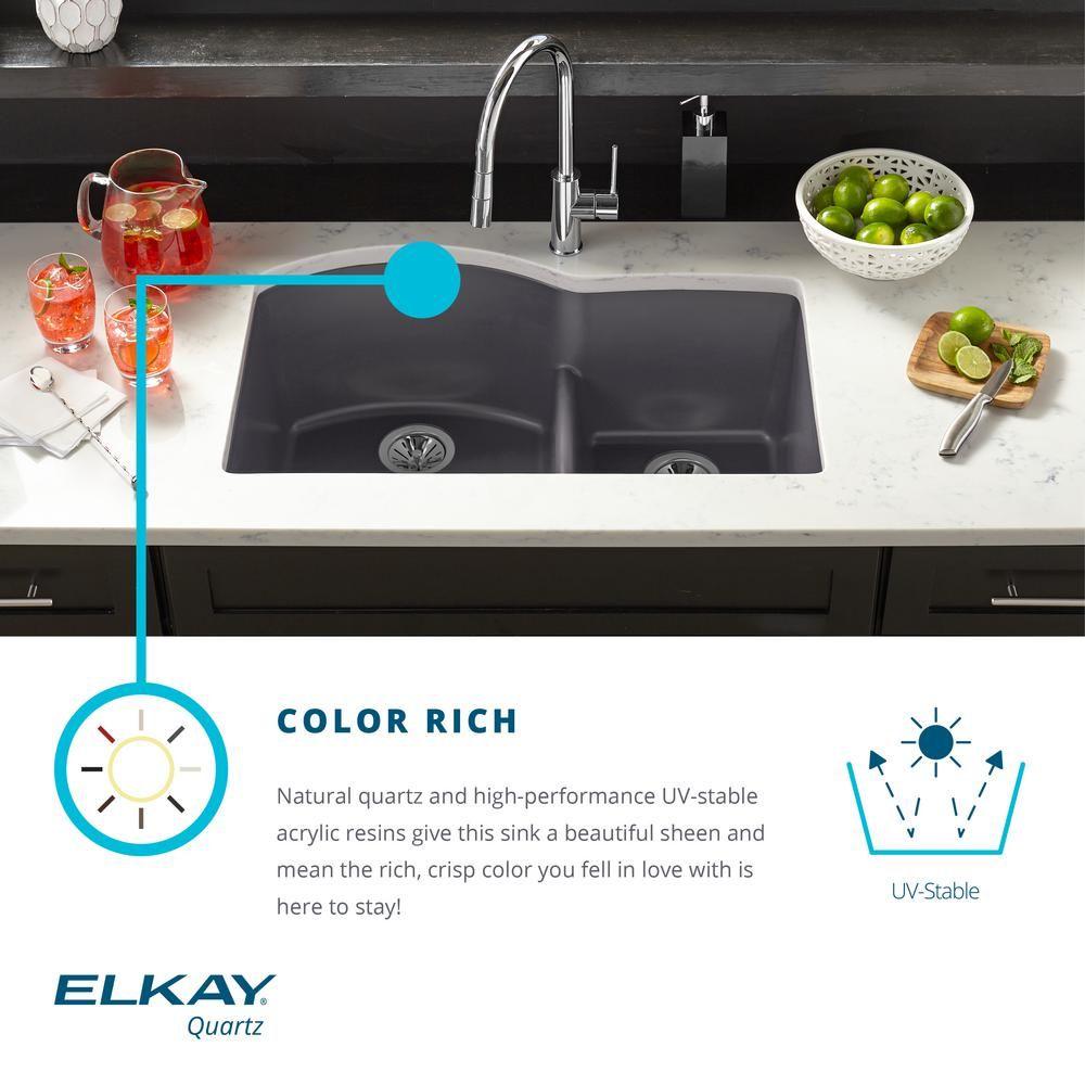 Elkay Elkay By Schock Drop In Undermount Quartz Composite 33 In