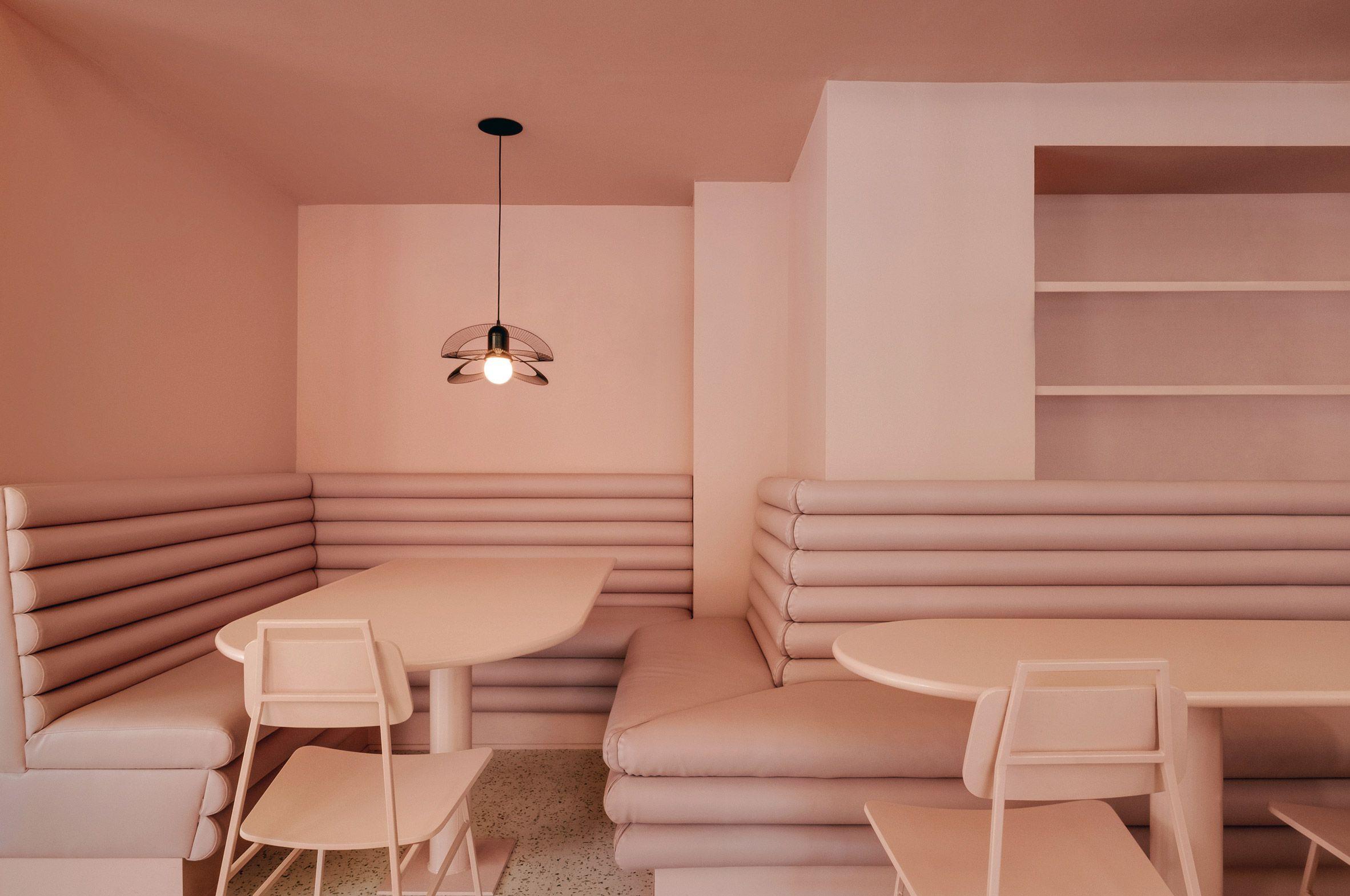Pastel Interieur Barcelona : Pastel rita by appareil architecture cafe restaurant in