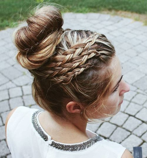 40 Most Delightful Prom Updos For Long Hair In 2020 Long Hair Styles Braided Bun Hairstyles Bun Hairstyles