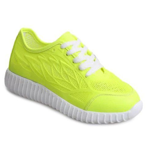 For Women Trendy Breathable And Solid Colour Athletic Shoes