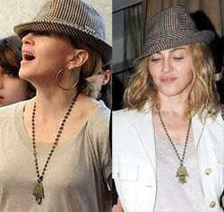 Madonna with hamsa necklace hamsa hand of fatima artemis madonna with hamsa necklace mozeypictures Image collections