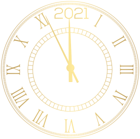 2021 Decorative New Year Clock Png Image With Transparent Background Png Free Png Images New Year Clock Clock Clipart Clip Art