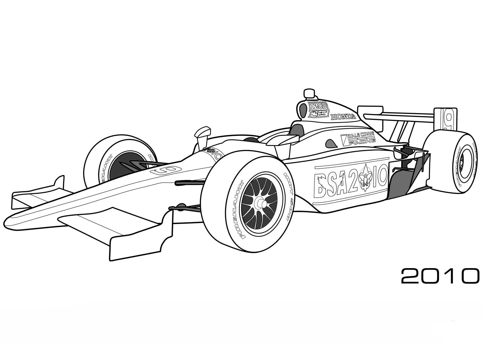 Dale Coyne Racing Bsa 2010 Indy Car Helpful Coloring Cartoon Coloring Pages Coloring Pages Sports Coloring Pages
