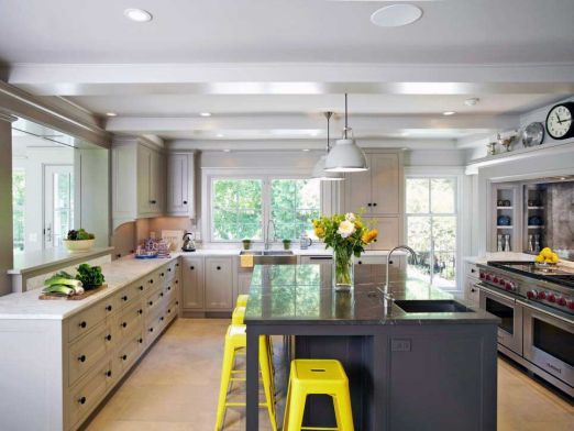 Amazing Kitchens Without Upper Cabinets Ideas 01 | Upper ...