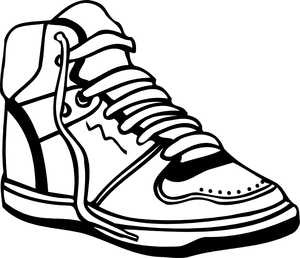 Sneaker Free Stock Photo Illustration Of A Sneaker 8312 Black And White Trainers Shoes Clipart Sneakers