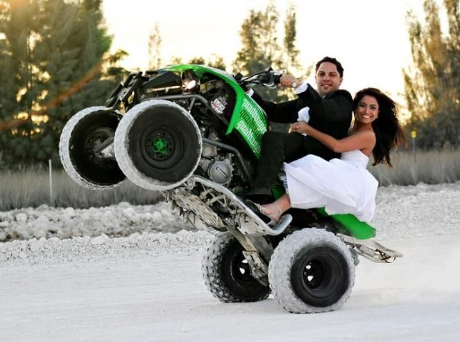 atv wedding pictures, just not the right type quad :p | wedding ...