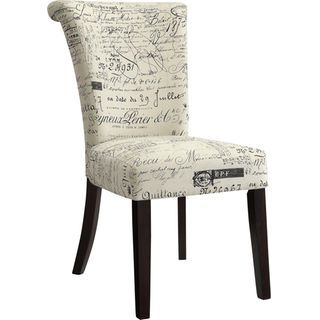 French Script Accent Dining Chair Dining Chairs Red Dining