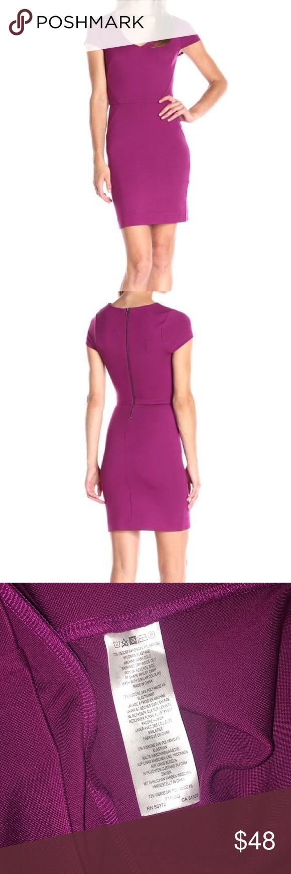 Nwt French Connection Magenta Purple V Neck Dress V Neck Dress Clothes Design Dresses [ 1740 x 580 Pixel ]