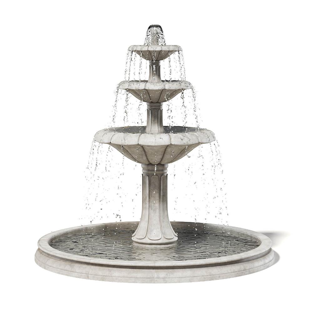 Large Fountain 3d Model Fountain Water Fountain Design 3d Model