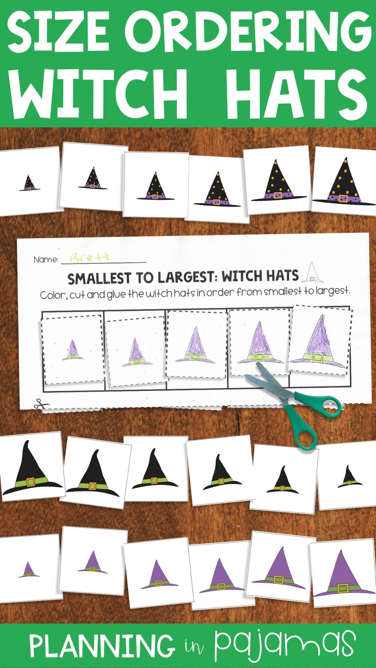 Witch Hats Size Ordering From Smallest To Largest