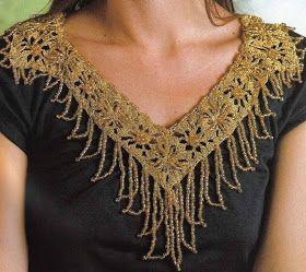 Cuello-Collar con Abalorios Patron - Patrones Crochet