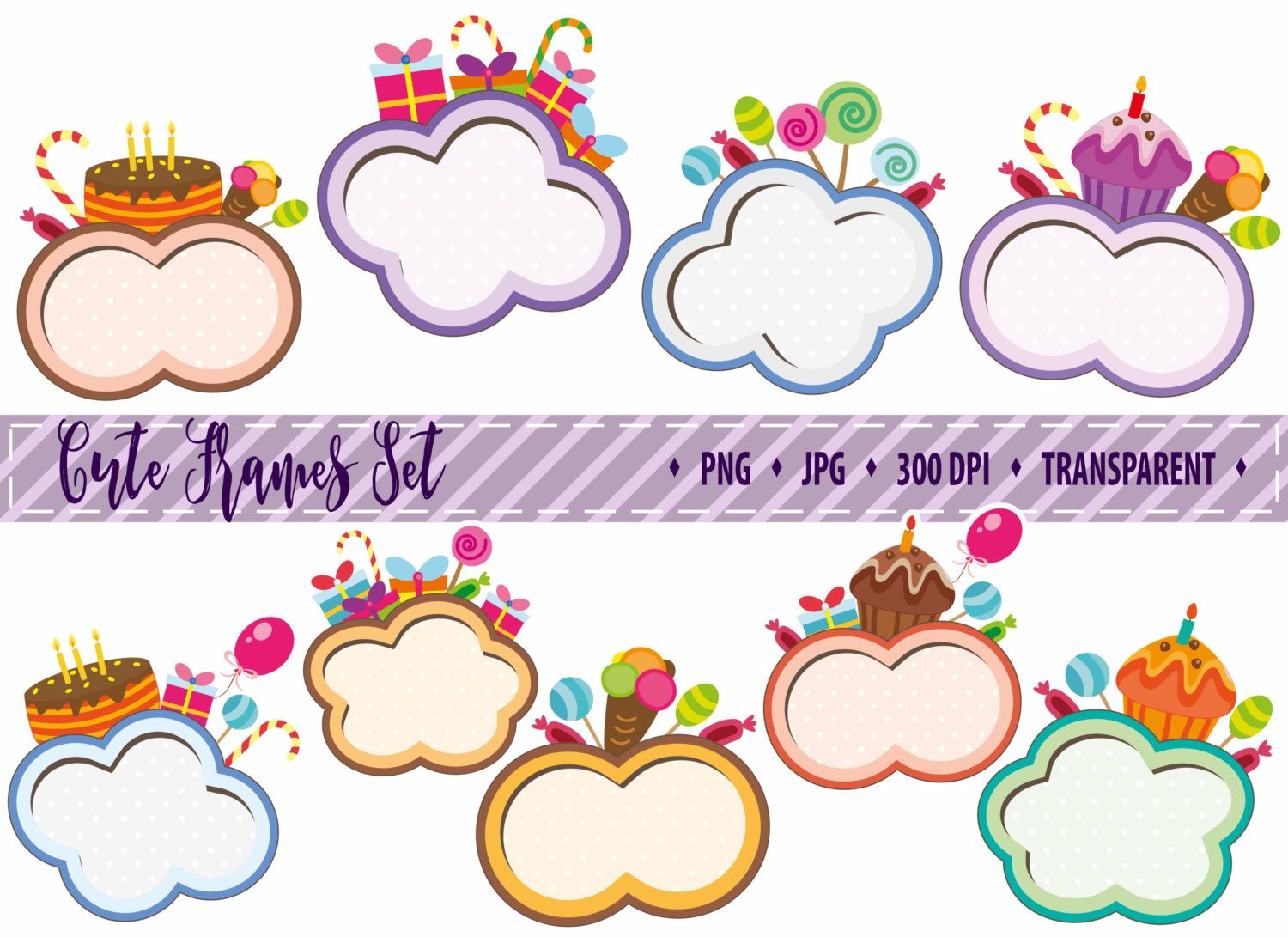 d42951fd4d5 50% OFF SALE Digital Frame Digital Clipart Frame Clipart Clipart Frame Cute  Frame Cartoon frame