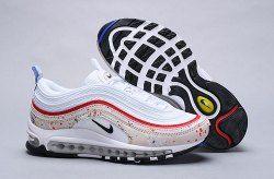 best website d6c41 6ec41 Nike Air Max 97 Paint Splatter Sail Amarillo University Red Black  312834-102 Sneaker Men s Women s Shoes