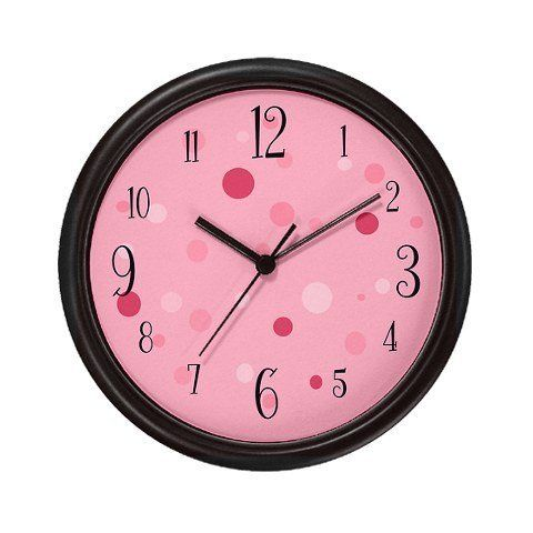 Lightweight Black Plastic Framed Numbered Pink Polka Dot Wall Clock 10 By Koncepts By Karen 23 99 Lightweight Black P Sleep Training Baby Baby Sleep Clock