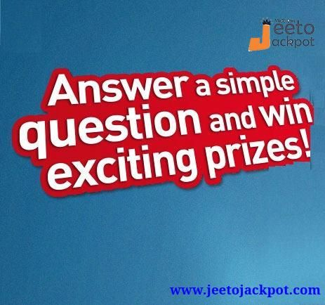 Pin by Jeeto Jackpot on Play Online Quiz Contest in 2019