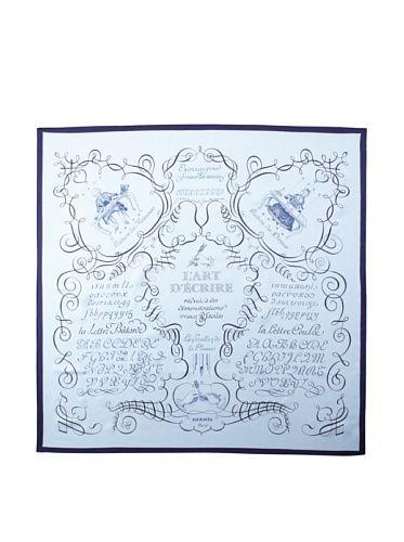 27% OFF Hermès Women\'s L\'Art d\'Ecrire Scarf, Blue/Purple