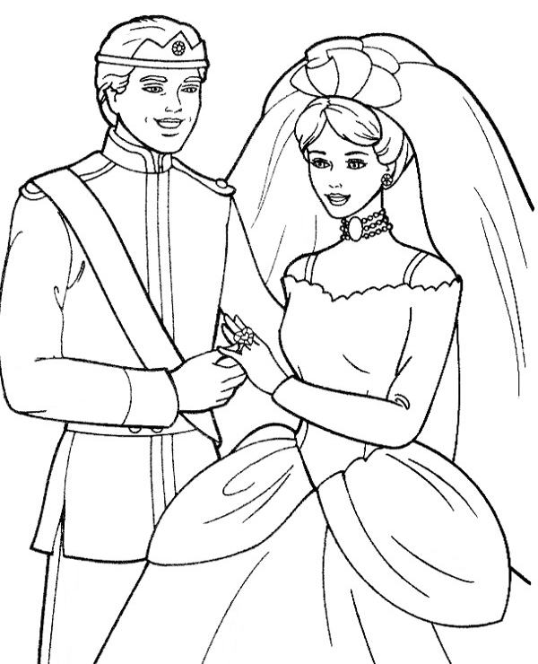 Barbie Getting Married Coloring Pages Barbie Coloring Pages Wedding Coloring Pages Cartoon Coloring Pages