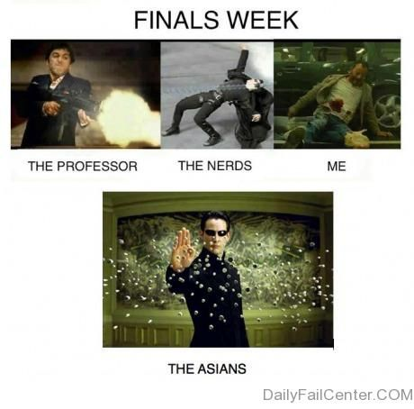How I am like during the finals