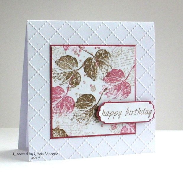AOCC15 April - Leafy Birthday by ceedee - Cards and Paper Crafts at Splitcoaststampers