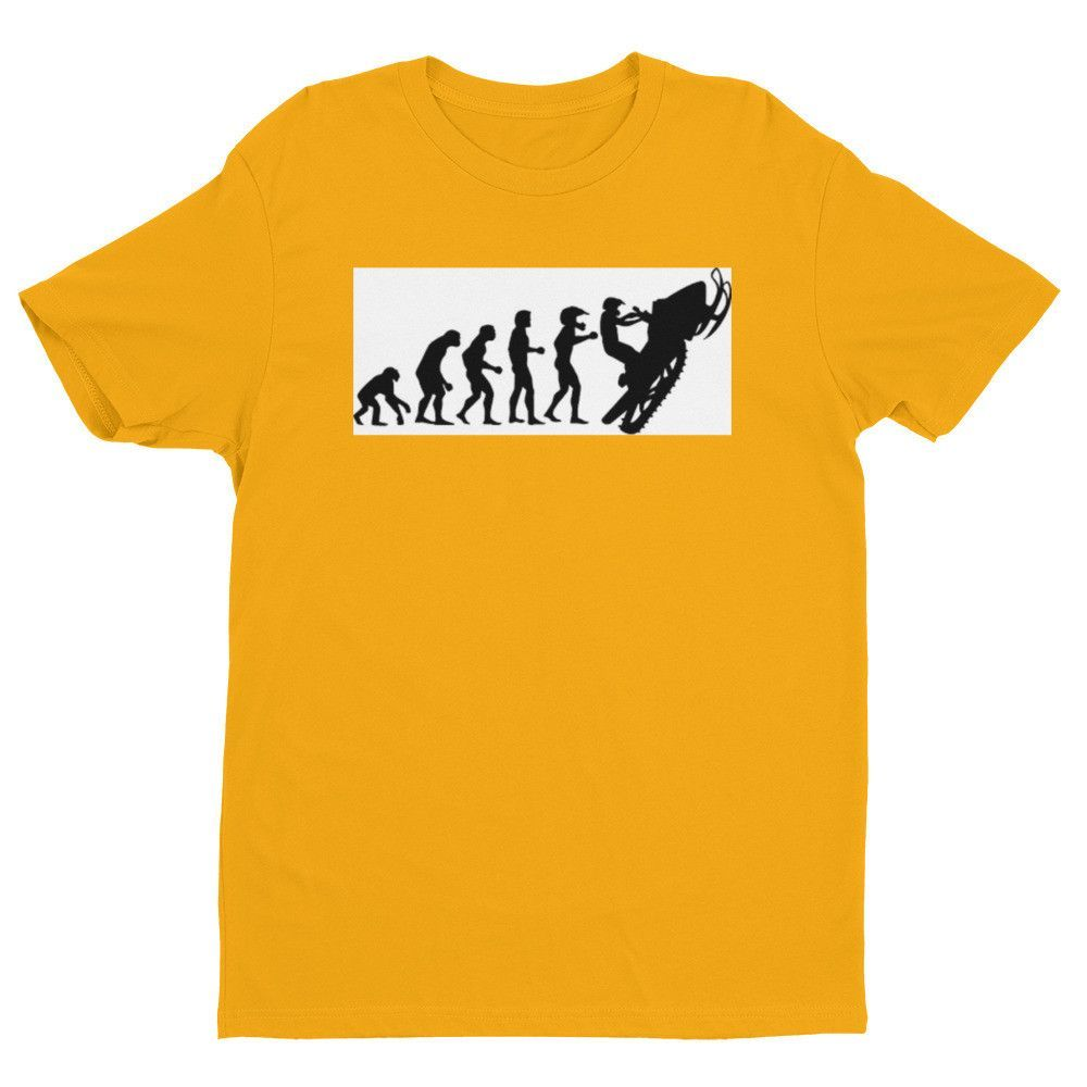 Snowmobile Evolution fitted Short sleeve men's t-shirt