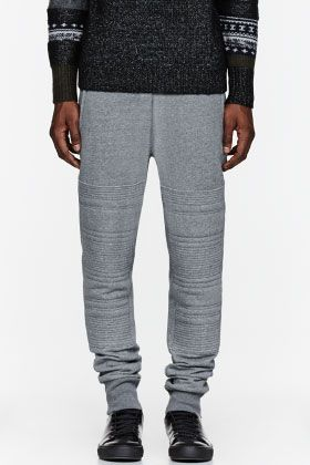 3.1 PHILLIP LIM Heather grey ribbed lounge pants
