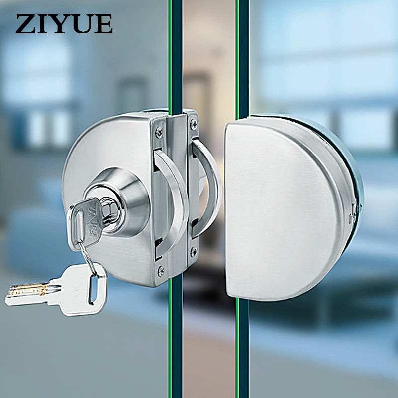 30 00 Know More Free Opening Frameless Glass Door Lock With Bilateral Central Office Single Double