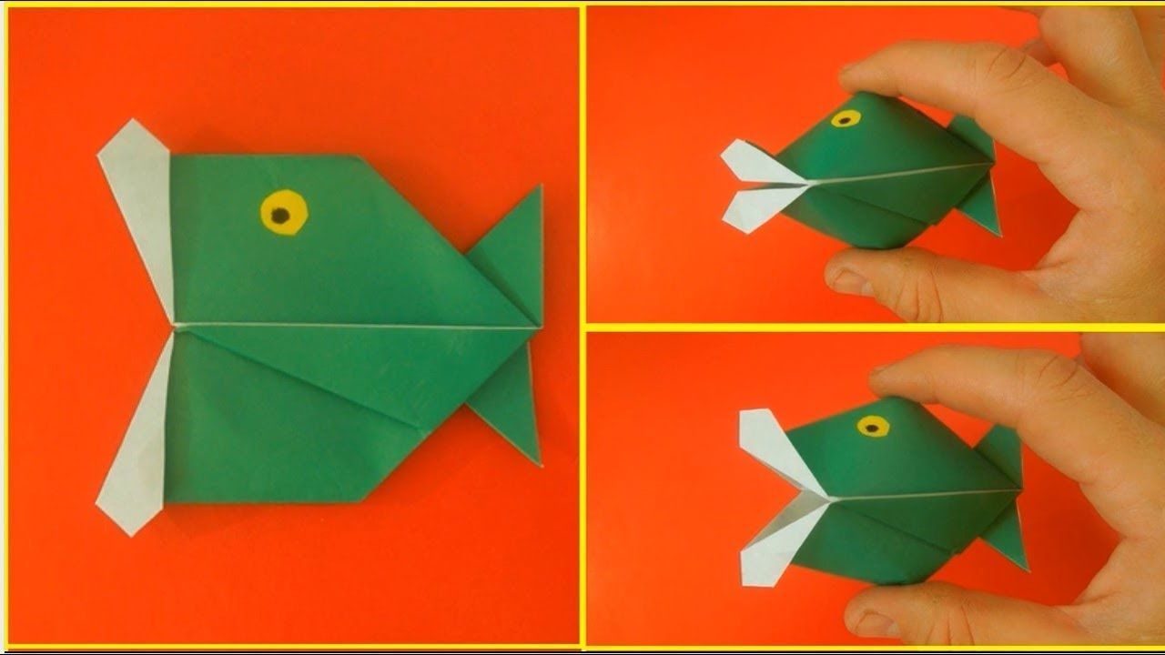 How To Make A Talking Fish Origami Toy Animales De Origami Manualidades Papel De Origami