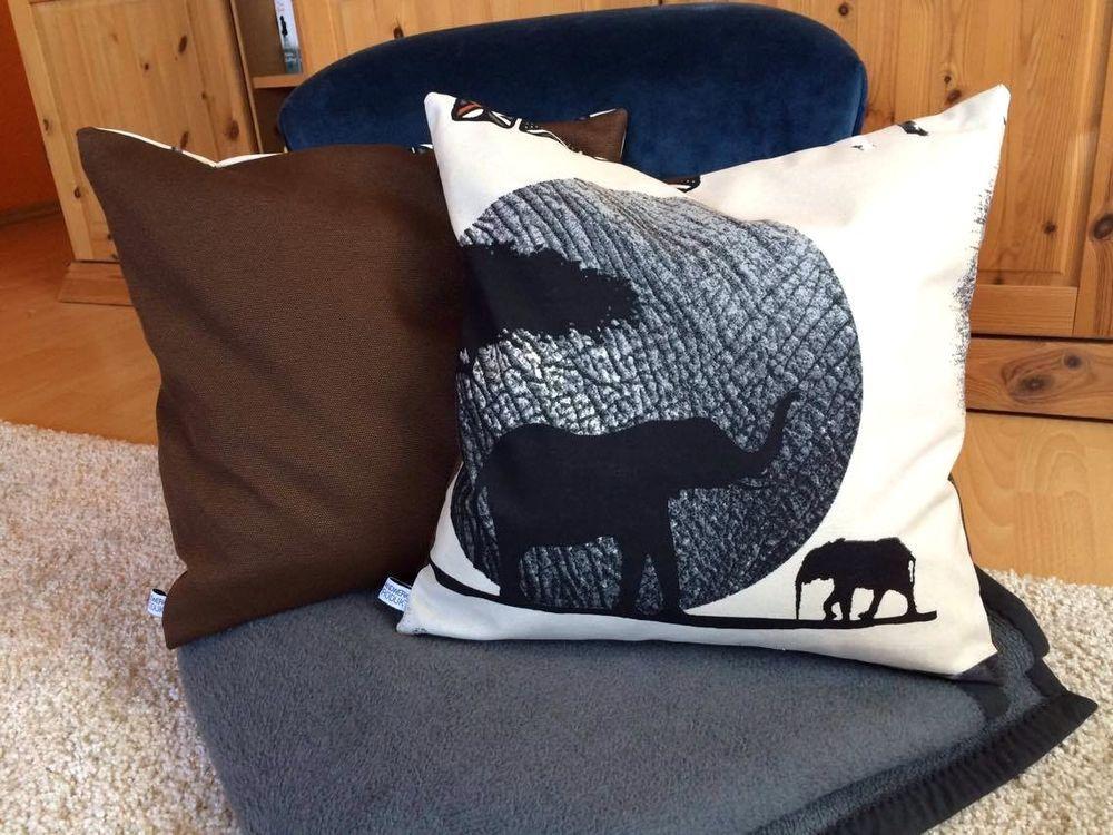 kissenbezug 40 x 40 braun beige grau afrika modern kissenh lle ohne kissen in m bel wohnen. Black Bedroom Furniture Sets. Home Design Ideas
