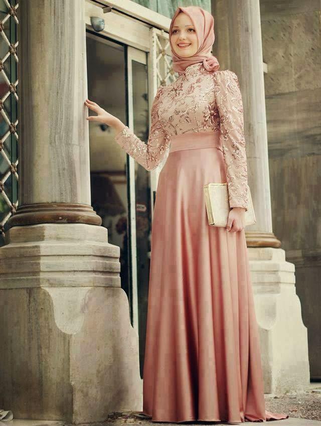 Robe de soiree pour femme musulmane