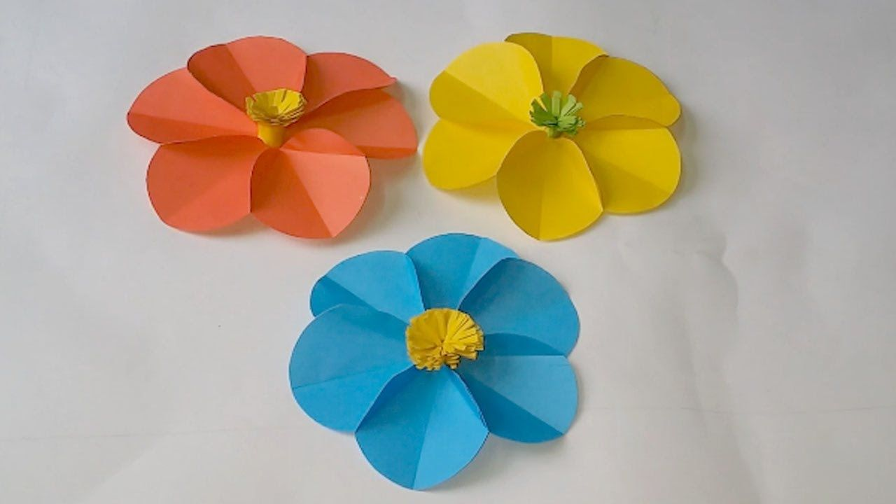 How To Make A 6 Circle Paper Flower Very Easy Way Paper