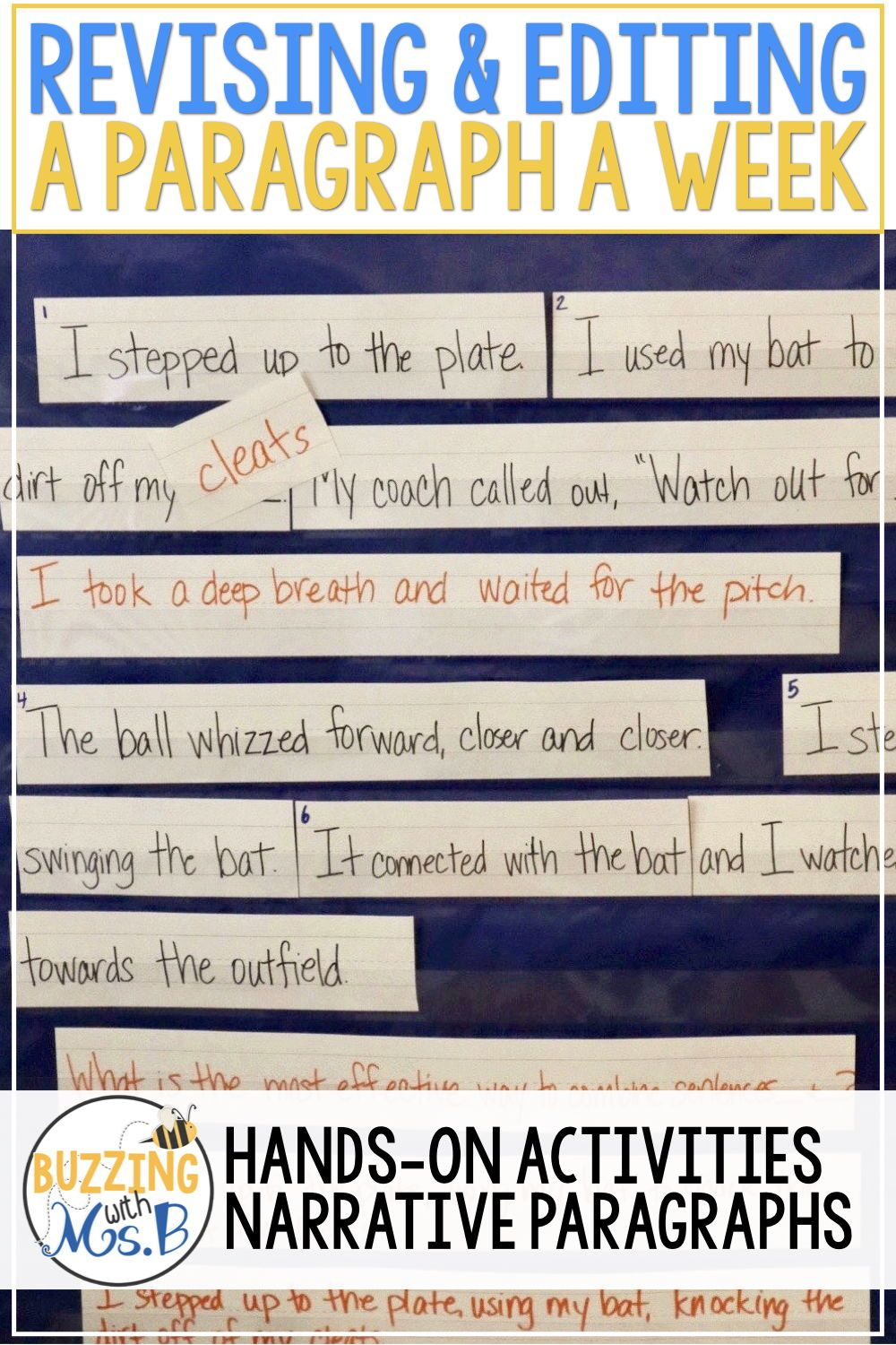 These Hands On Activities For Revising And Editing Are Better Than An Anchor Chart Or A Worksheet Teach Stud Teaching Writing Mentor Sentences Writing Lessons [ 1500 x 1000 Pixel ]