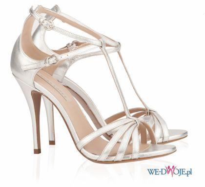 Srebrne Buty Slubne Pura Lopez Polkipl Slub Buty Silver High Heel Sandals Fancy Shoes Bridal Shoes