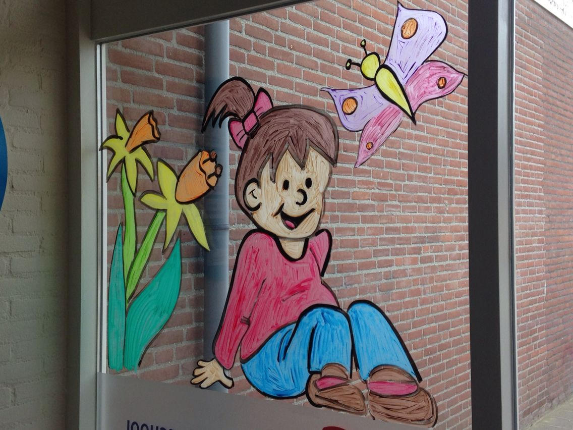 Raamschildering Lente Raamschilderingen Klas Pinterest Raam