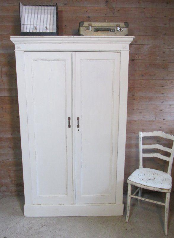 Oude Ondiepe Kast Wit Voor Tv Kleding Of Keuken