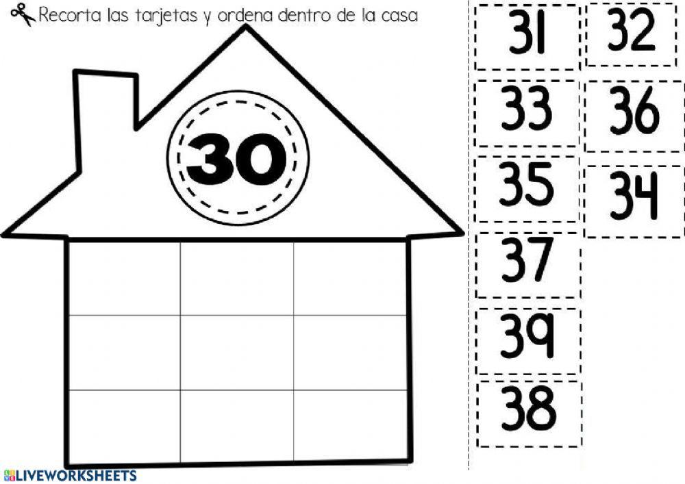 Familia Del 30 Ficha Interactiva Actividades De Matemáticas Preescolares Juegos De Matemáticas Preescolares Matematicas Primero De Primaria