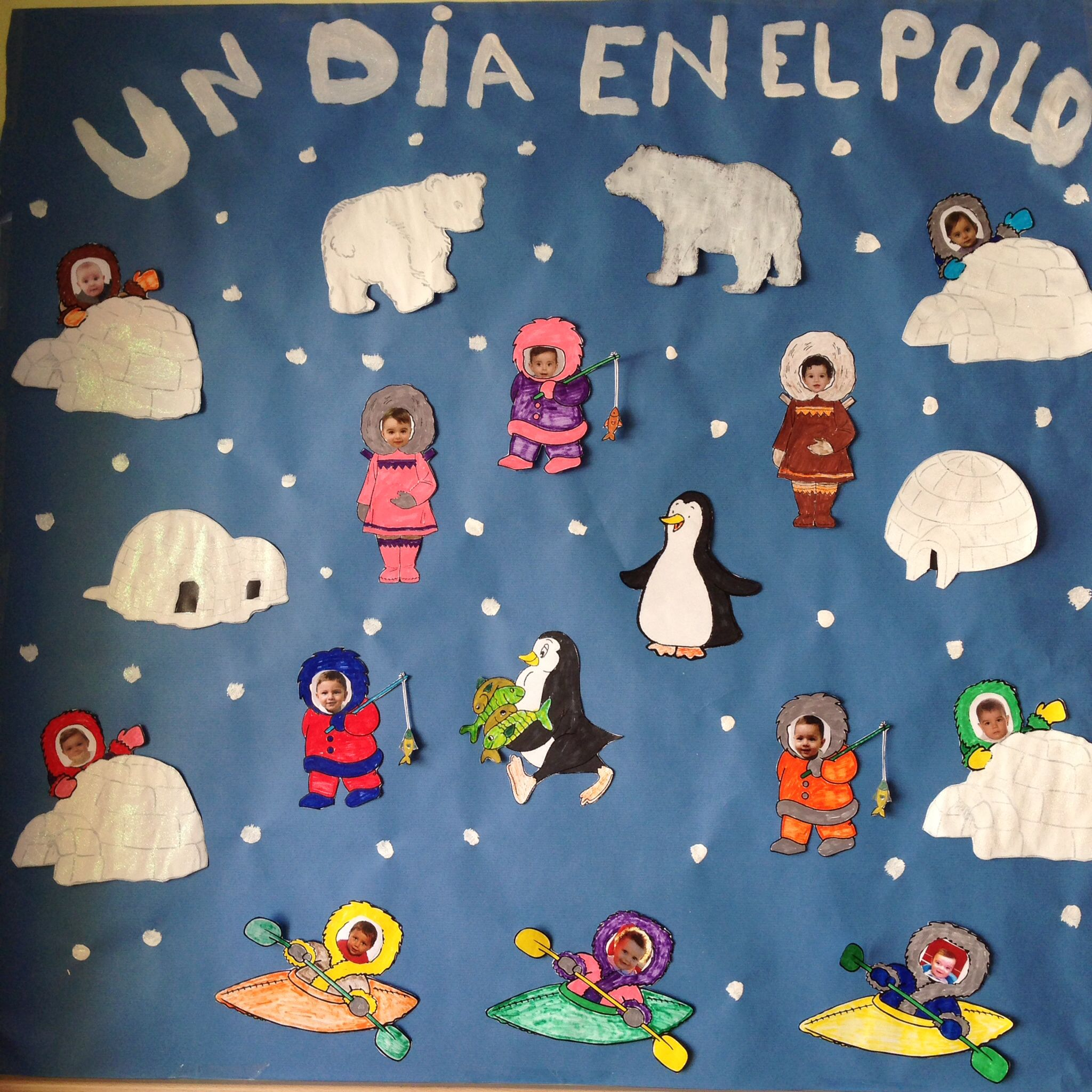 Mural esquimales 1 2 a os invierno pinterest - Mural navidad infantil ...