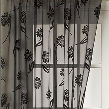 72 Inch Black Sheer Curtain Panels Curtain Shop Voile Curtains