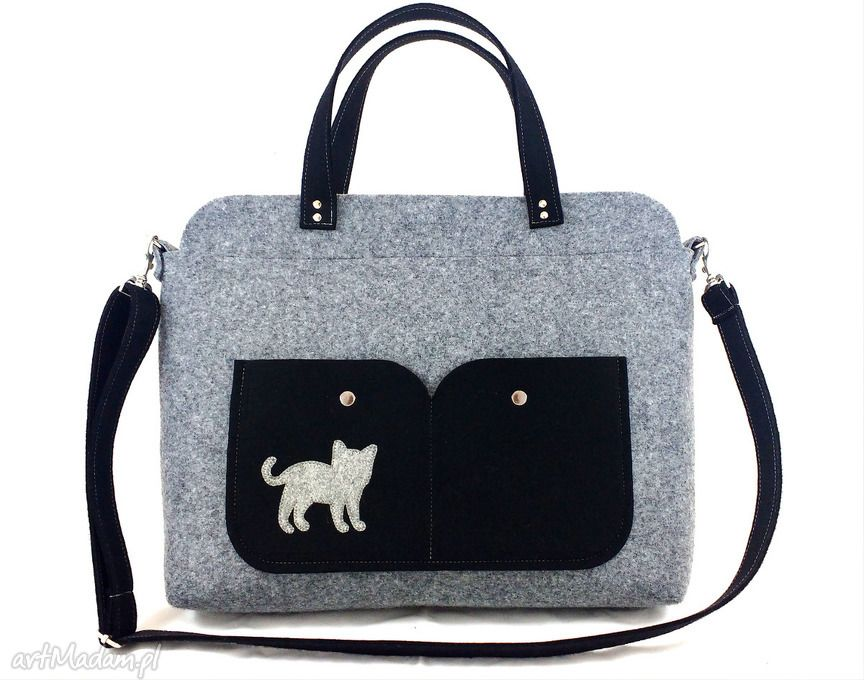 50ddd0fb804 Gray laptop bag with cat | Made by myself | Borse e Uncinetto