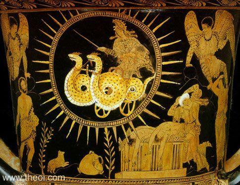 Ancient Greek Art The Flight Of Medea Ancient Greek Art Ancient Art Greek Art
