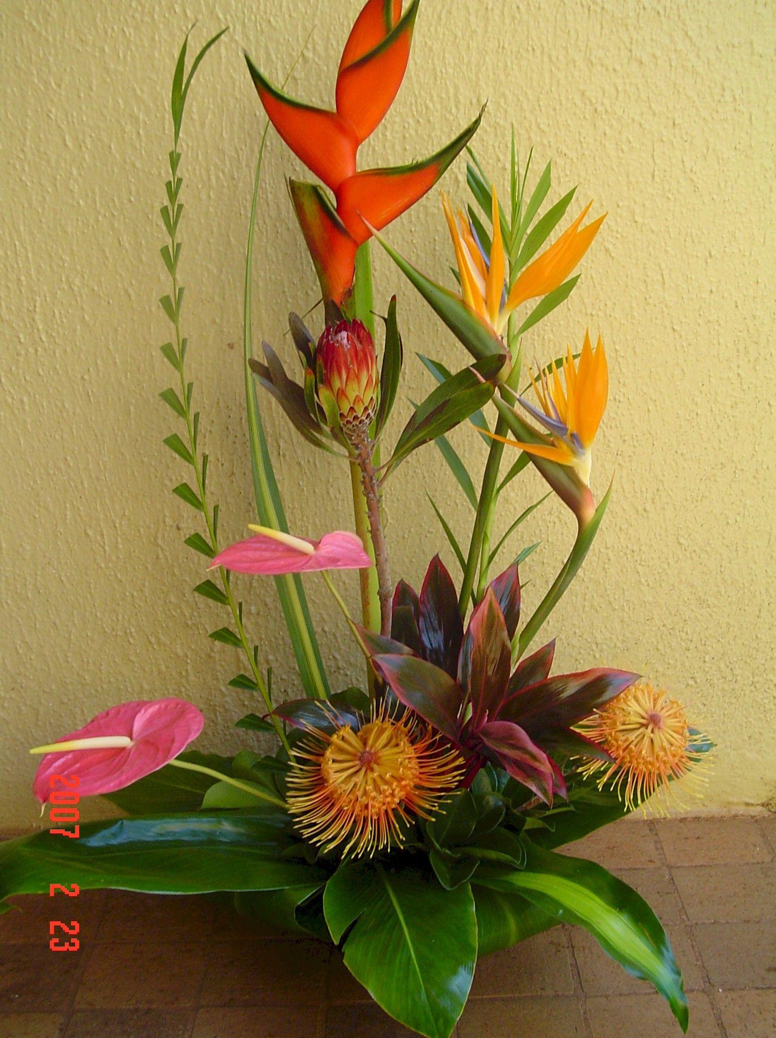 Hawaiian Centerpieces My Flower Shop Tropical Flower Arrangements