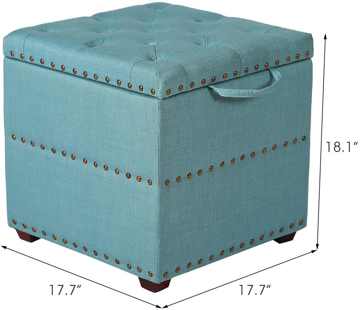 edeco storage ottoman bench with tray